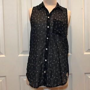 Hollister sheer button up shirt NWOT